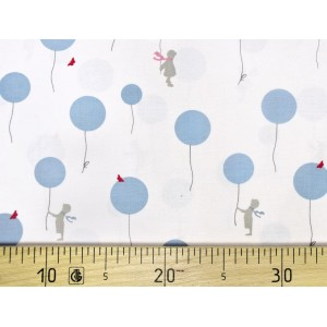 Ткань AIR BALLOON BLUE Little Friends Gutermann