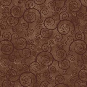 Ткань CURLY SCROLL SABLE Quilting Treasures