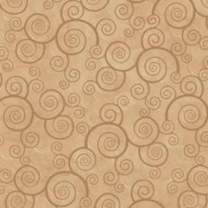 Ткань CURLY SCROLL CAMEL Quilting Treasures
