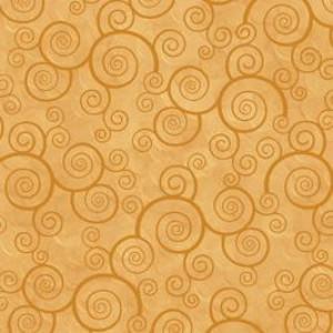Ткань CURLY SCROLL HONEY Quilting Treasures