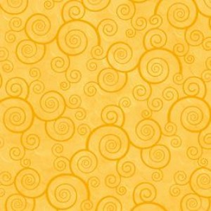 Ткань CURLY SCROLL SUNFLOWER Quilting Treasures