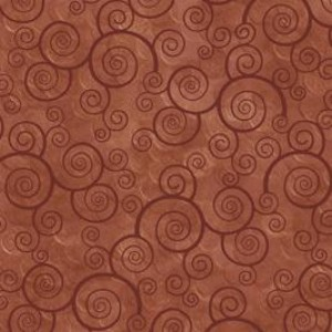 Ткань CURLY SCROLL TERRACOTTA Quilting Treasures