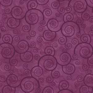 Ткань CURLY SCROLL PLUM VELVET Quilting Treasures