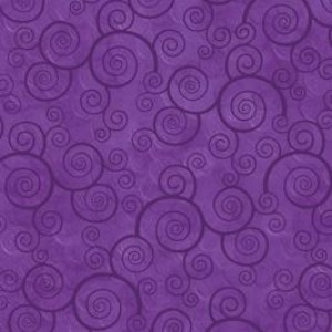Ткань CURLY SCROLL PANSY Quilting Treasures