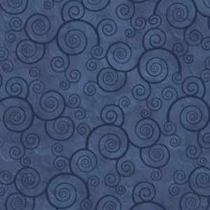 Ткань CURLY SCROLL SLATE BLUE Quilting Treasures