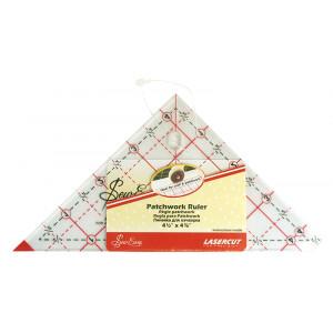 """Линейка - треугольник с углом 90° градация в дюймах 4 1/2"""" X 4 7/8"""""""