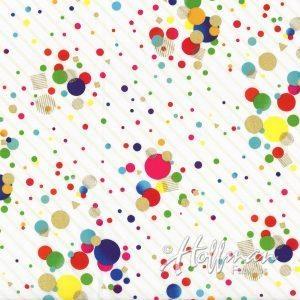 Ткань It's My Party Dots Multi/Gold White Hoffman California