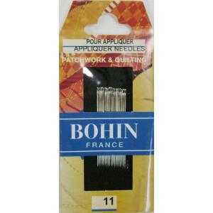 Набор игл для квилтинга №11 (20 шт), BOHIN
