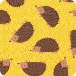 Ткань Forest Playaround Hedgehog SUNSHINE Robert Kaufman