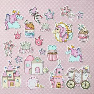 """Набор высечек """"Розовый единорог"""" MONA Design"""
