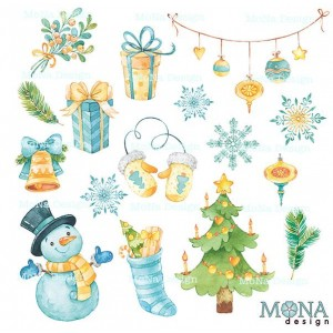 """Набор высечек """"Новый год"""" MONA Design"""