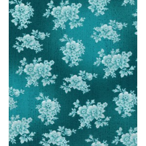 Ткань Buttercream™ Poppy Collection Cotton Fabric-Tonal Floral Green