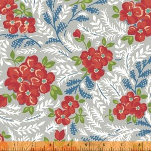 Ткань Windham Fabrics Hazel Large Floral Grey 40836-6