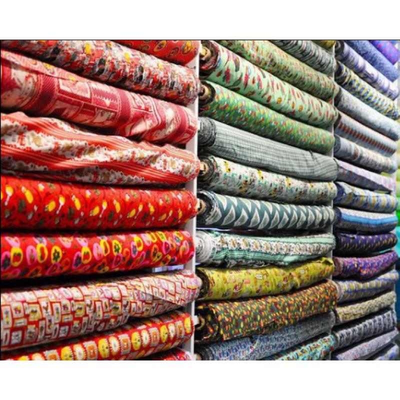 Ассортимент ткани и сюрпризы для рукодельницы