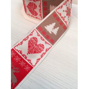 Лента СКАНДИНАВИЯ, Красный, 25 мм