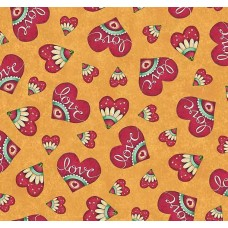 Ткань LOVE HEARTS HONEY Quilting Treasures