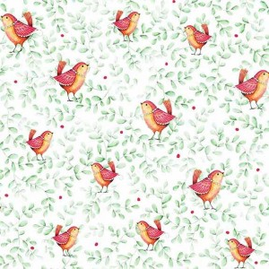Ткань BIRDS GREEN Quilting Treasures