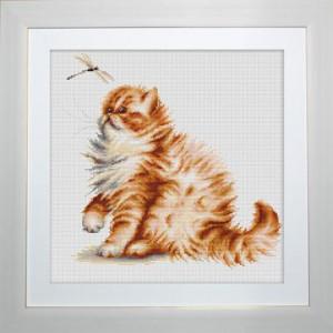 """Набор для вышивания """"Кошка со стрекозой"""" Luca-S"""