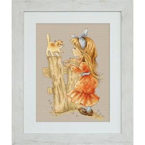 """Набор для вышивания """"С котенком"""" Luca-S"""
