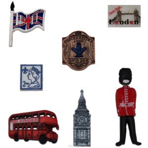 Набор пуговиц Destination England от Dress It Up