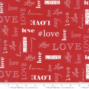 Ткань Love Love Red by Sandy Gervais, Moda Fabrics