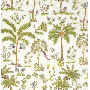 Ткань Haute Girls PWDF209 White Palm Trees by Dena Fishbein for Free Spirit