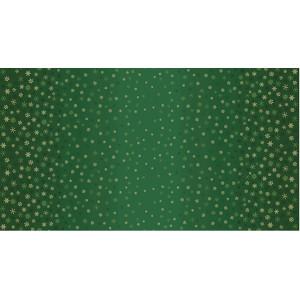Ткань Ombre Snowflake Green Makower UK
