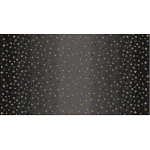 Ткань Ombre Snowflake Black Makower UK