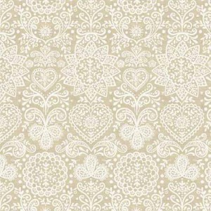 Ткань Scandi 4 Lace Cream Makower UK