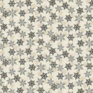 Ткань Scandi Snowflakes Silver, Makower