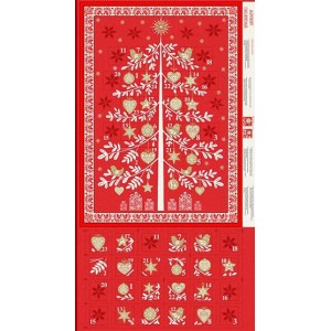 Купон Scandi Advent Tree Red, Makower