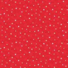 Ткань Christmas Scandi Star Red Makower UK