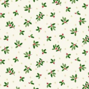 Ткань Silent Night Holly White, makower uk