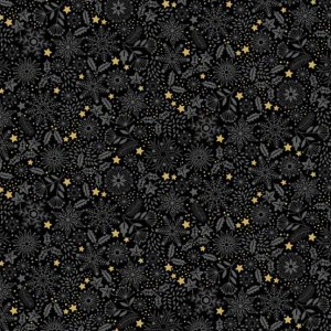 Ткань Silent Night Tonal Black, makower uk