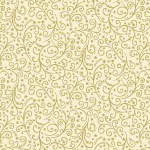 Ткань Twelve Days of Christmas Scroll Cream, Makower