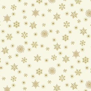 Ткань Twelve Days of Christmas Snowflake Cream, Makower