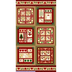 Купон WRAPPED IN JOY CHRISTMAS PANEL, Marcus Fabrics