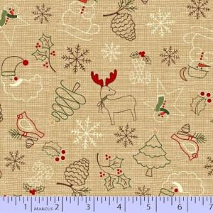 Ткань Wrapped In Joy Marcus Fabrics