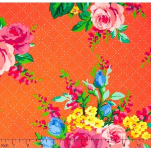 Ткань Mostly Manor - Elise Orange Yardage