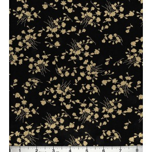 Ткань Buttercream™ Audrey Cotton Fabric-Ditsy Floral Vine Black