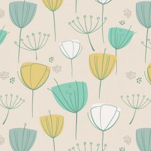 Ткань Floral Frolic Coco Littlest, Art Gallery