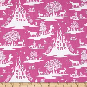 Ткань Fairy Toile Fuschia, Dear Stella Fabric
