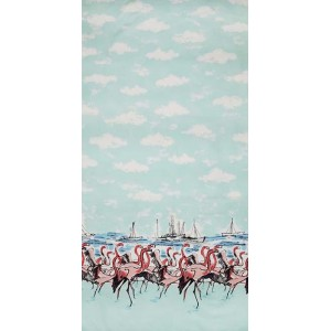 Ткань Flamingo Border, Michael Miller