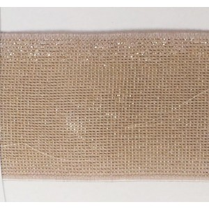 Резинка-пояс с люрексом 40 мм, бежевый с золотом,  MATSA
