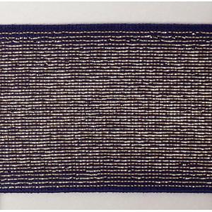 Резинка-пояс с люрексом 40 мм, фиолетовый с золотом, MATSA