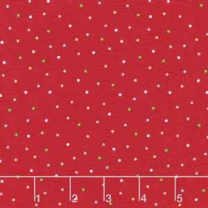 Ткань We Whisk You A Merry Christmas Multi Pin Dot Red Maywood Studio