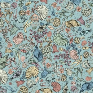 Ткань MIDNIGHT GARDEN PACKED FLOWERS BLUE, Quilting Treasures