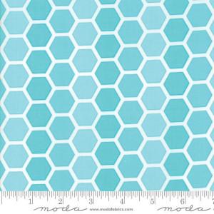 Ткань CONFETTI Honeycombs Turquoise Moda
