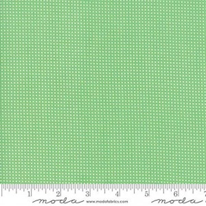 Ткань Floral Kids Cross Stitch Light Green 30's Playtime Moda