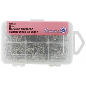 Булавки-гвоздики портновские в пластиковом органайзере